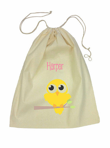 Drawstring Bag - Yellow Bird