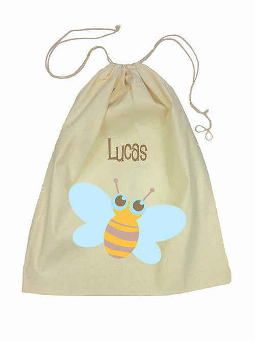 Calico Drawstring Bag - Bee
