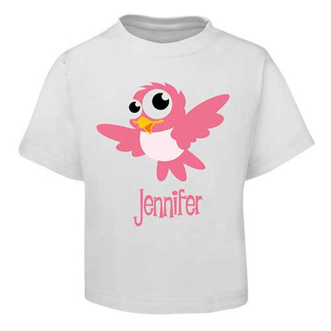 Pink Bird  Kids T-Shirt