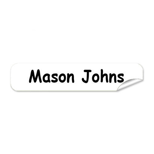 Mini Name Labels 72pk - White