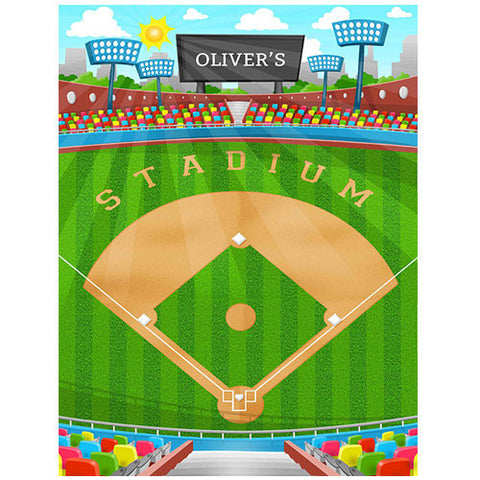 Small Baseball Play Blanket