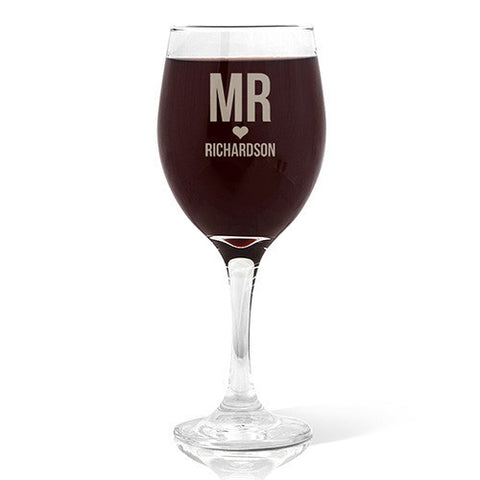 Mr Love Design Wine 410ml Glass