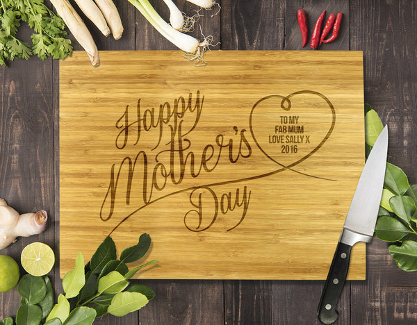 Mother's Day Bamboo Cutting Boards