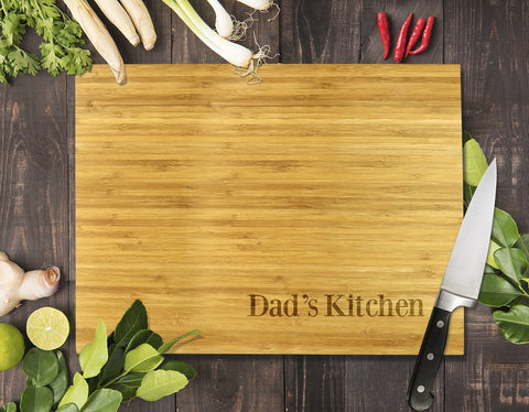 Simple Dad's Kitchen Bamboo Cutting Board 8x11