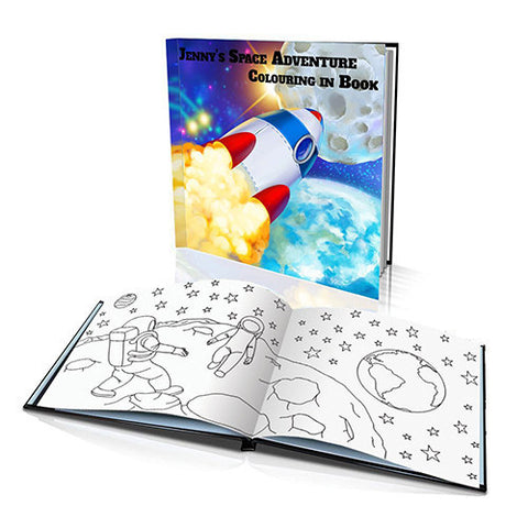 Space Adventure Hard Cover Colouring Book