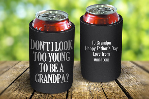 Young Grandpa Drink Cooler