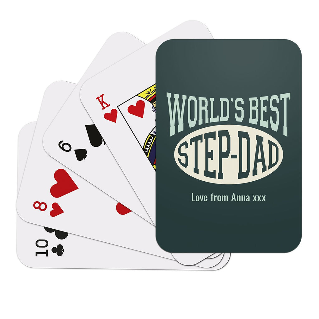 World's Best Step Dad Playing Cards