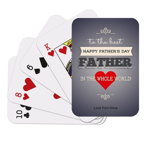Best Father Playing Cards