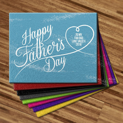 Happy Father's Day Glass Cutting Board
