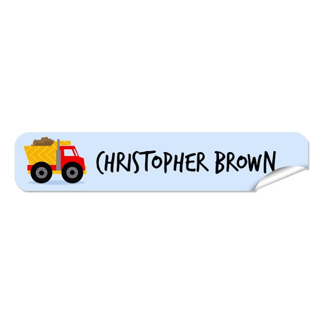 Mini Name Labels 72pk - Truck