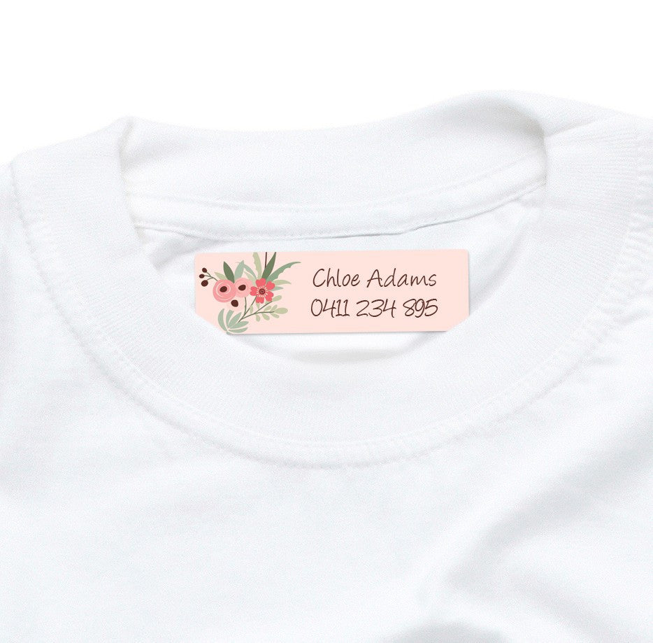 Iron On Labels 44pk - Flower Wreath