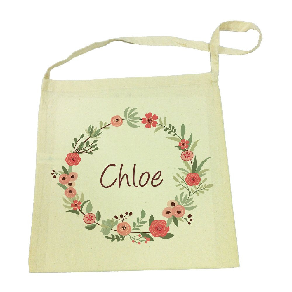 Library Bag - Flower Wreath