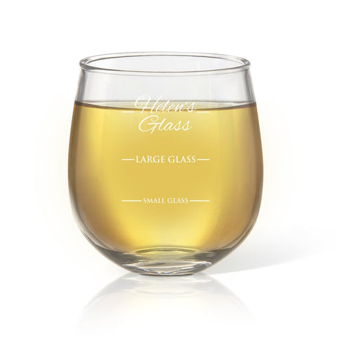 Person's Stemless Wine Glass - Temporary Out Of Stock
