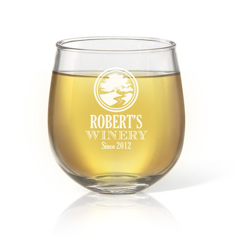 Winery Stemless Wine Glass - Temporary Out Of Stock