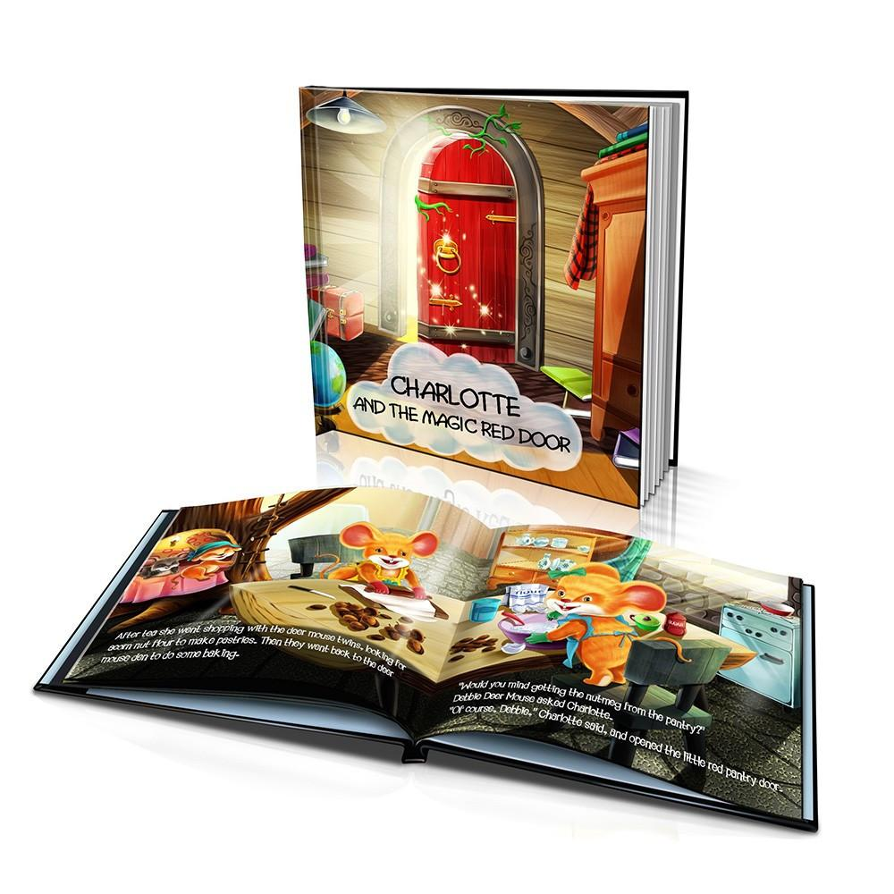 Large Hard Cover Story Book - The Magic Red Door
