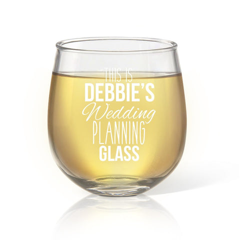 Wedding Planning Stemless Wine Glass - Temporary Out Of Stock