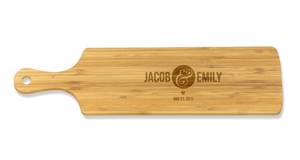 Couples Long Bamboo Serving Board