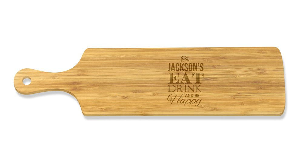 Eat Drink Long Bamboo Serving Board