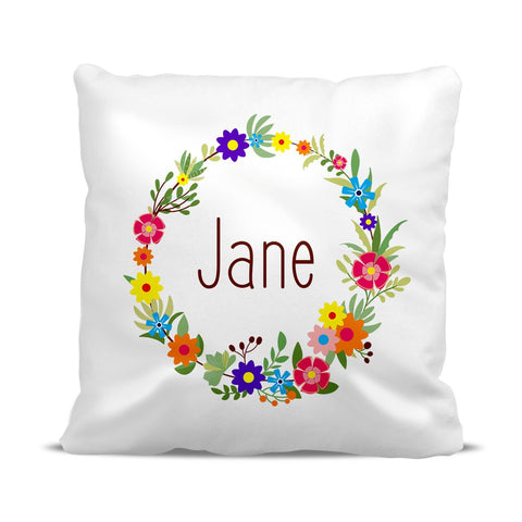 Flower Wreath Cushion Cover