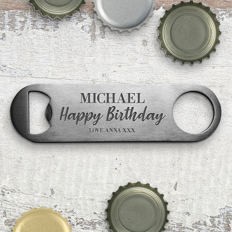 Birthday Engraved Bottle Opener