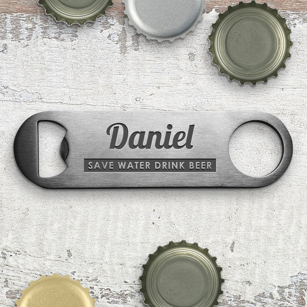 Save Water Engraved Bottle Opener