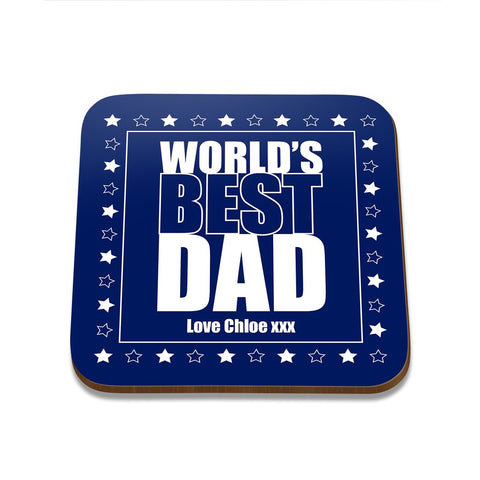 World's Best Dad Square Coaster - Single