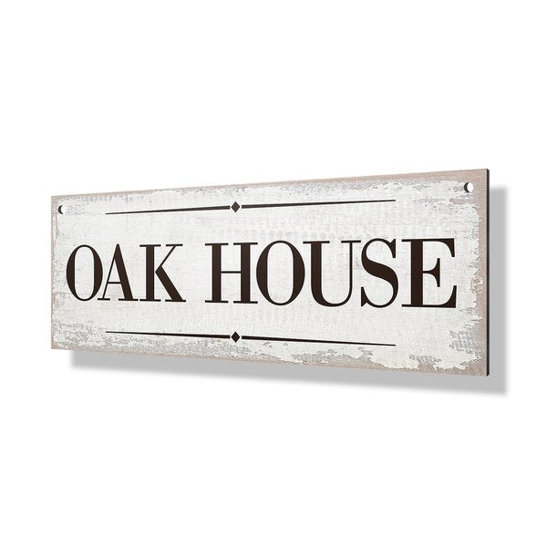 White Wash Property Sign - 24x8""