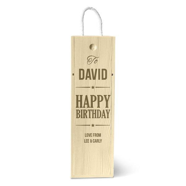 Happy Birthday Single Wine Box