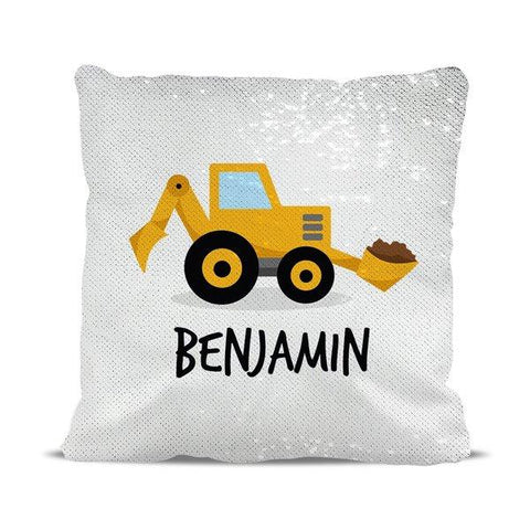 Little Digger Reversible Sequin Cushion Cover
