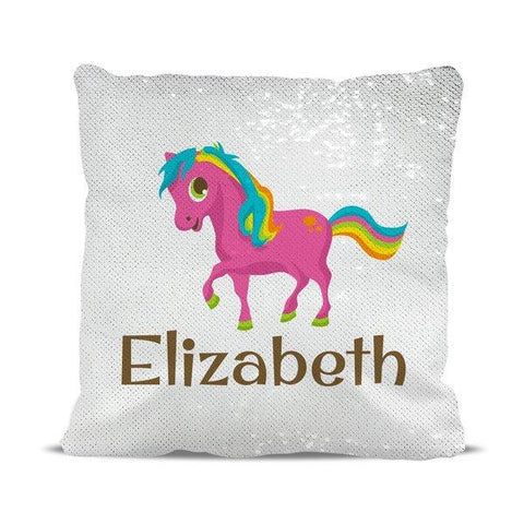 Pony Reversible Sequin Cushion Cover
