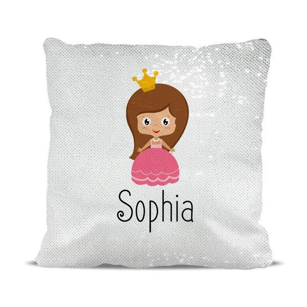 Princess Reversible Sequin Cushion Cover
