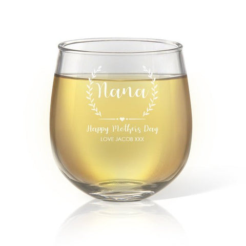 Crest Stemless Wine Glass