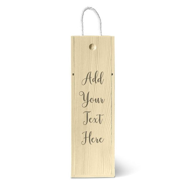 Add Your Own Message Wine Box - Single