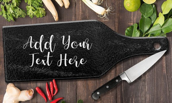 Add Your Own Message Glass Cheese Board