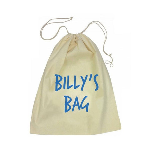 Calico Drawstring Bag - Name
