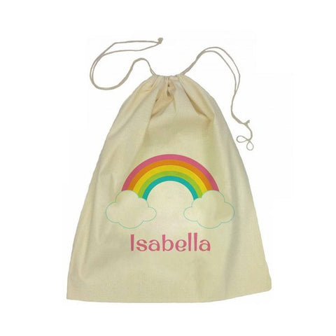 Calico Drawstring Bag - Rainbow