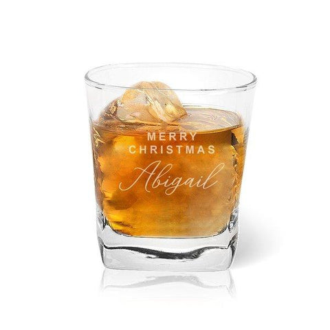 Merry Christmas Tumbler Glass