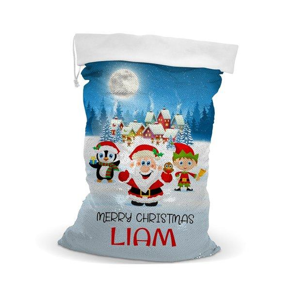 Christmas Sequin Santa Sack