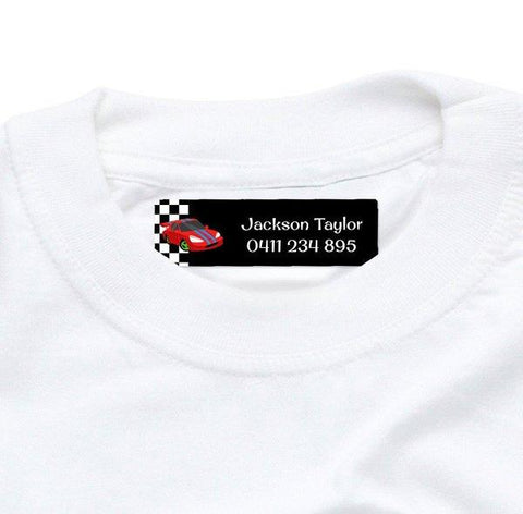 Race Cars Iron On Labels 44pk