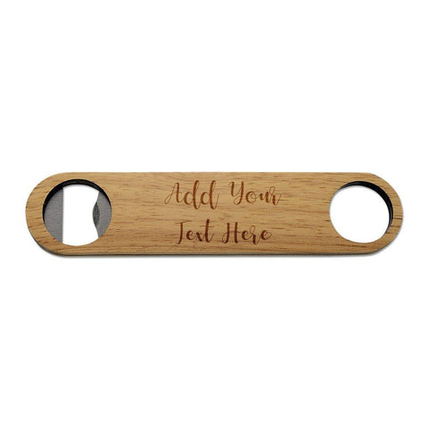Add Your Own Message Wooden Bottle Opener