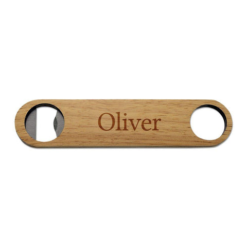 Classic Name Wooden Bottle Opener