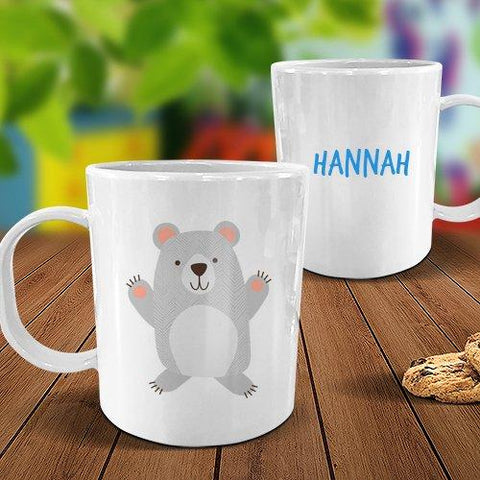 Bear White Plastic Mug