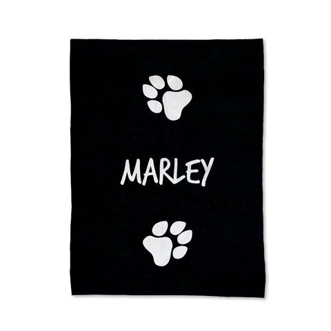 Paw Prints - Dog Blanket - Large