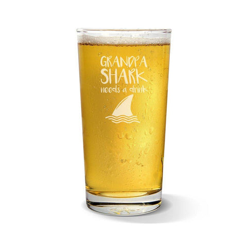 Shark Pint Glass