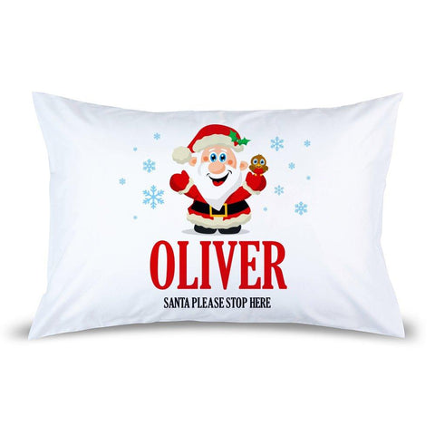 Jolly Santa Pillow Case