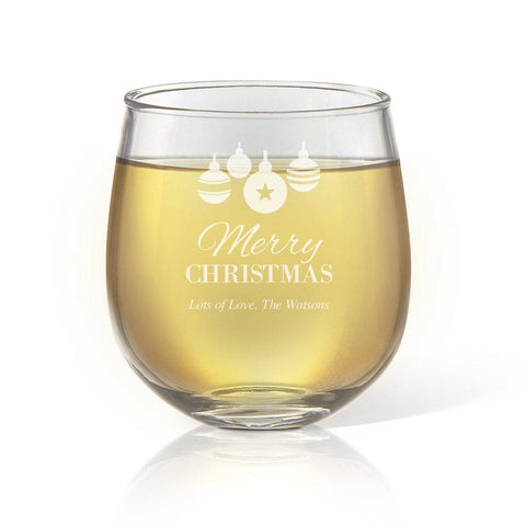 Bauble Stemless Wine Glass
