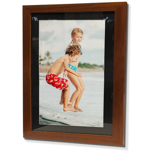 "19x23"" Brown Frame with Black Border (12x17"" Print)"