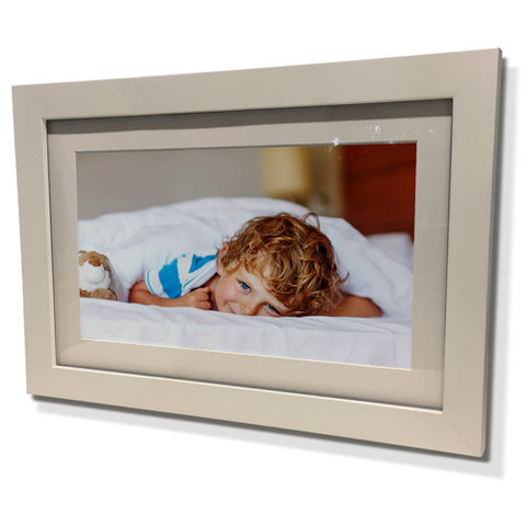 "11x13"" White Frame with White Border (5x7"" Print)"
