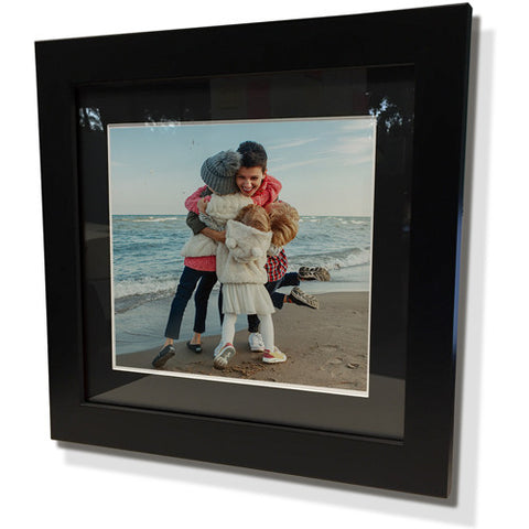 "13x13"" Black Frame with Black Border (7x7"" Print)"