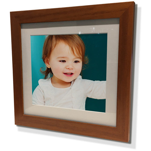 "13x13"" Brown Frame with White Border (7x7"" Print)"